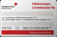 Ensiapukortti 86 € – Hätäensiapukurssi lähelläsi pääkaupunkiseudulla