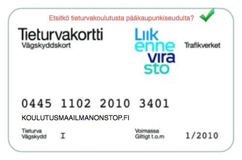 Tieturvakortti Helsinki - koulutukset lähelläsi nopealla aikataululla