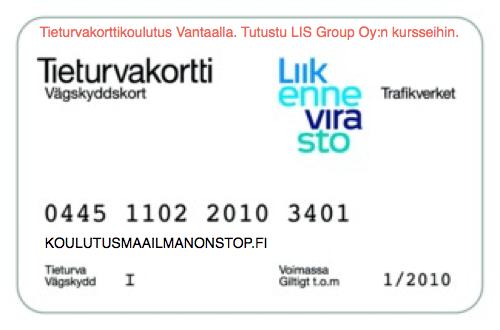 Tieturvakortti Vantaa - koulutukset toteuttaa LIS Group Oy