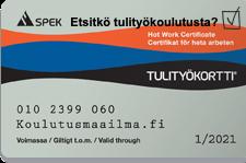 Tulityökortti Tampere - koulutus nopealla aikataululla - Koulutusmaailma NonStop