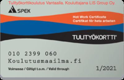 Tulityökortti Vantaa - kouluttajana LIS Group Oy