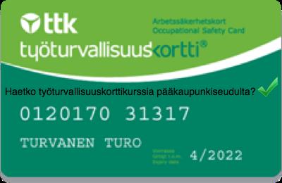 Työturvallisuuskortti Helsingin seudulta - koulutuksia joka päivä