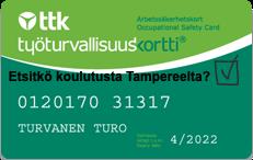 Työturvallisuuskorttikoulutus Tampere - Löydät ammattipätevyyskurssit KoulutusmaailmaNonStop sivustolta