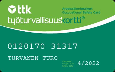 Työturvallisuuskortti Vantaalta? Katso koulutuspäivät kalenterista ja ilmoittaudu.